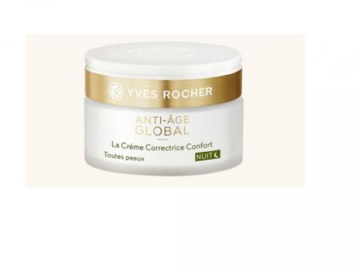 Cremă de față YvesR sdwU4ML de noapte hidratantă, antirid și de regenerare, cu nectar vegetal din muguri