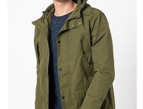 Jachetă din bumbac TdnH5BL O'Neill pentru bărbați casual verde Parka dreaptă cu buzunare