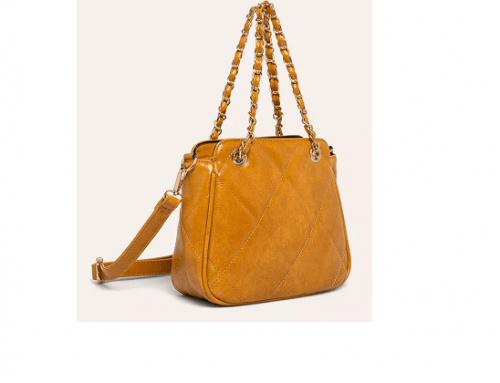 Answear QLG-SwDT4M, geantă de damă casual de umăr și mână galbenă din piele ecologică