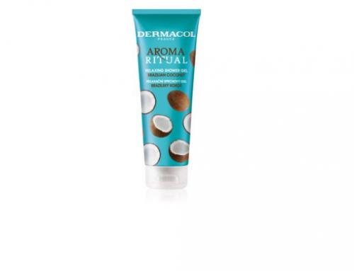 Gel de duș ELTw4HU Dermacol hidratant și relaxant cu nucă de cocos, pentru toate tipurile de piele