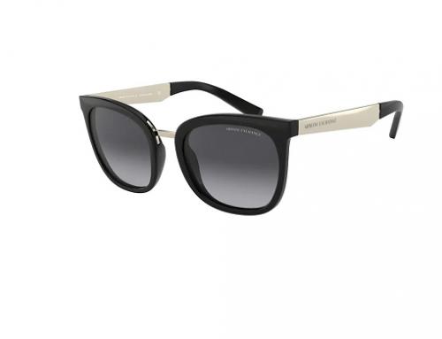 Armani Exchange SwF5NBG, ochelari de soare de damă polarizați stil Ochi de pisică, lentile gri