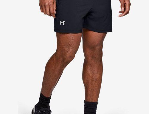 Under Armour SMW-QwD4M, pantaloni scurți pentru bărbați sport cu buzunare și cordon elastic