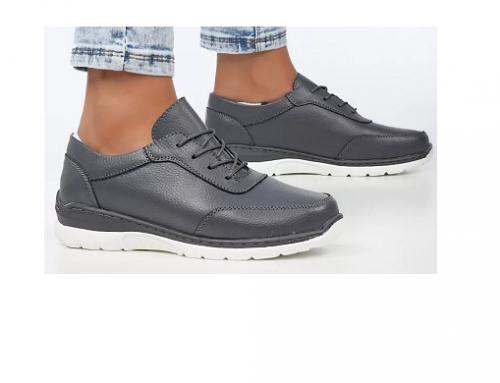 Pantofi cu toc plat QHT-L5BDS Malttena de damă casual din piele naturală cu șiret și talpă joasă
