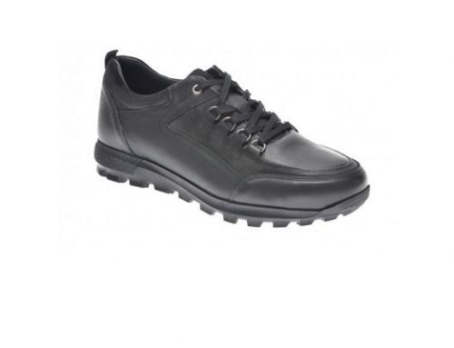 Pantofi Otter GswmL2U casual pentru bărbați, negri, din piele naturală