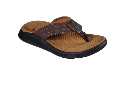 Skechers WLB-QHN5M, papuci bărbați cu talpă cu spumă SargoReyon, pentru plajă și stradă