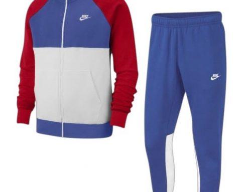 Trening din bumbac TLwmg2M Nike pentru bărbați cu bluză cu guler înalt, tiv elastic și închidere cu fermoar