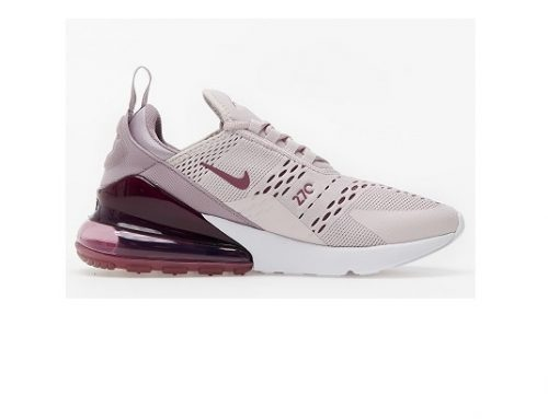NIKE qsmuT3ZDL, pantofi sport de damă roz din material textil cu capsulă Air Sole și talpă plată