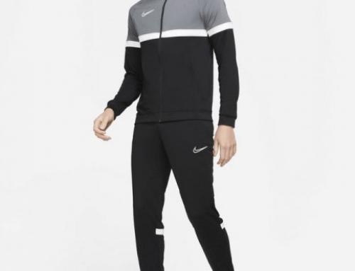 NIKE qhszT3MLU, trening pentru bărbați negru cu bluză cu fermoar și pantaloni conici