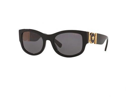 Versace WDBmsd3U, ochelari de soare pentru femei VE4372 GB1/81 polarizați cu lentile gri, stil ochi de pisică