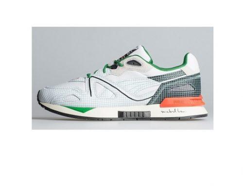 Pantofi sport wmdsY5UL Puma bărbați  albi din piele întoarsă cu talpă intermediară EVA, Mirage Mox
