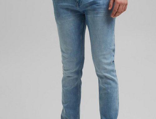 Esprit SLyws3MT, blugi casual clasici pentru bărbați slim fit, albastru deschis