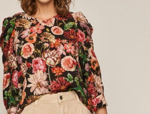 Bluză WEQdms3L Medicine pentru femei casual dreaptă cu imprimeu floral și decolteu în V