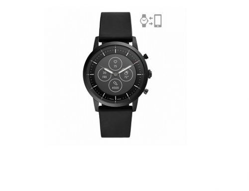 Ceas negru Fossil FTW7010 pentru bărbați Hybrid Collider cu display mixt și brățara din silicon, 3ATM