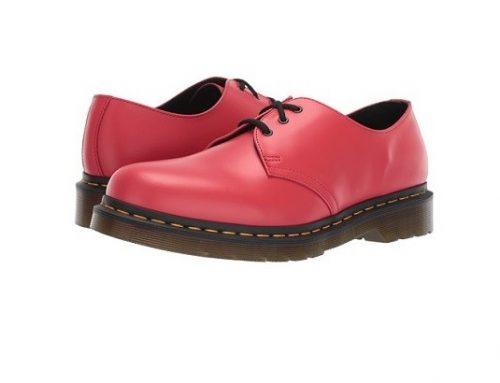 Pantofi pentru femei Dr. Martens WDNsm2B stil Oxford clasic din piele naturală, cu șireturi