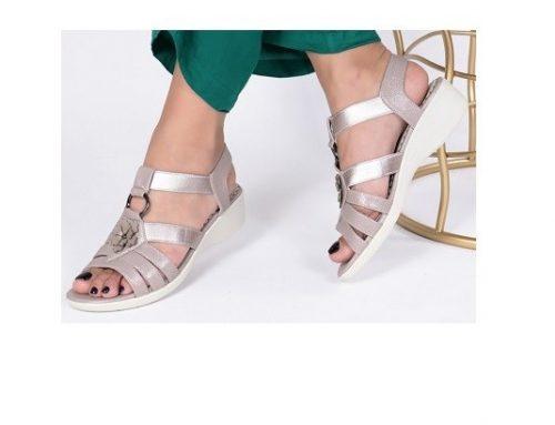 Sandale cu talpă joasă WMSqdz2U Abia de damă casual din piele ecologică