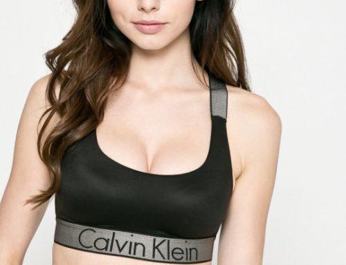 Calvin Klein SBQ-gw5DL, sutien sport negru cu bandă elastică și cupe moi