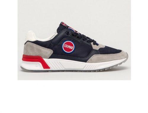 Pantofi sport pentru bărbați WDQxsw2L Colmar din piele întoarsă și material textil, bleumarin, cu talpă plată