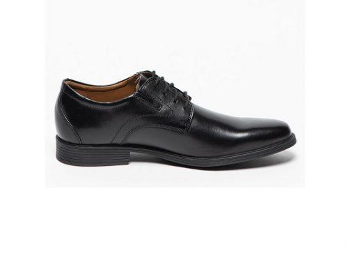 Pantofi pentru bărbați LMQsvm5T Clarks eleganți din piele naturală cu inserție elastică și talpă plată