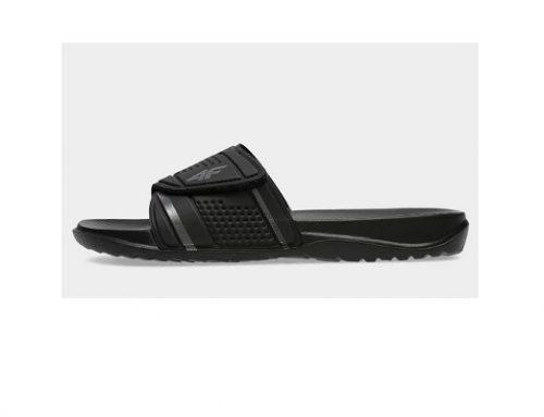 Papuci 4F EQ'wds2U pentru bărbați de plajă și bazin, negri, cu spumă,  branț texturat și profilat