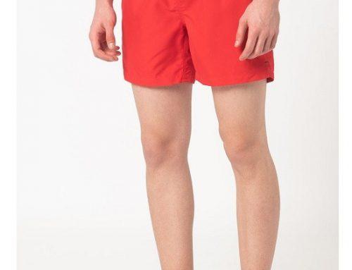 Șort de baie Esprit Camden Bay roșu drept pentru bărbați cu buzunare laterale și la spate