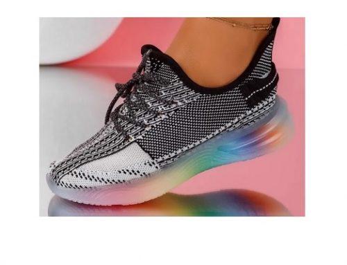 Pantofi sport pentru femei Harper negri din material textil cu talpă plată