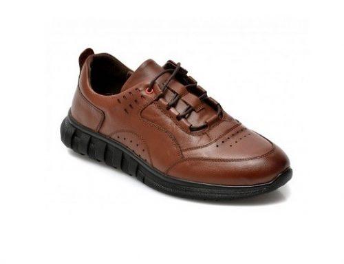 Gryxx TBE62QH, pantofi sport pentru bărbați maro din piele naturală cu talpă plată