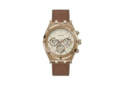 Guess WLU43NQS, ceas pentru bărbați GW0262G3 cu brățara maro din piele, 5ATM, mecanism Quartz