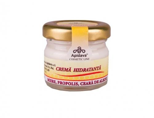 Cremă de față Apidava hidratantă împotriva ridurilor și coșurilor, cu propolis și miere de albine