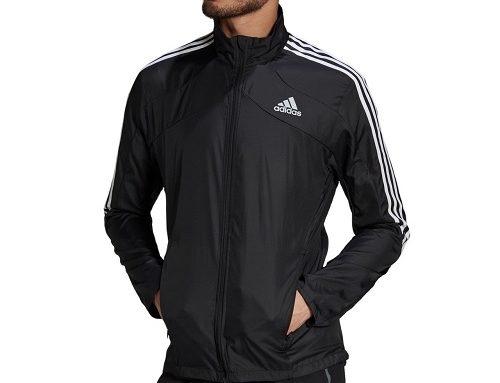 Jachetă TQA52HT Adidas Marathon sport pentru bărbați neagră din material subțire