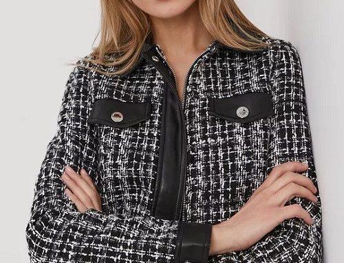 Morgan EDSY5T, jachetă pentru femei scurtă și dreaptă casual ornamentată, închidere cu fermoar