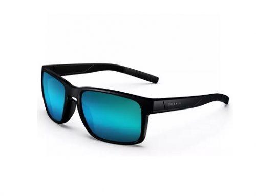 Ochelari de soare Quechua ESQ52T polarizați pentru bărbați cu lentile albastre și ramă completă