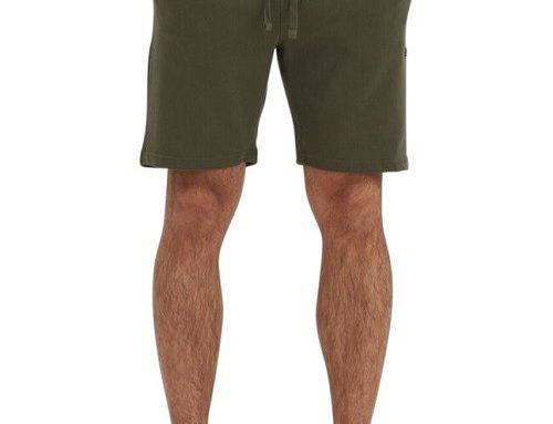 Pantaloni scurți Blend Of America pentru bărbați drepți din bumbac verde oliv cu șnur și buzunare