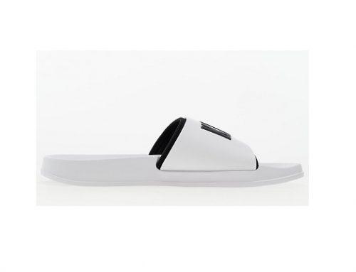 Papuci pentru bărbați WMS75T Calvin Klein de plajă și fitness sport albi cu talpă plată