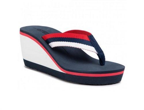 Papuci MDWS7UT Gioseppo Mistley pentru femei cu platformă bleumarin