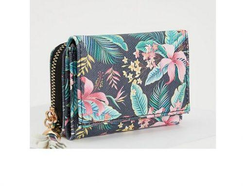 DeFacto MLQE4TF, portofel de damă casual cu imprimeu floral multicolor și închidere cu fermoar