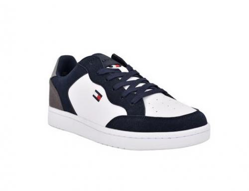 Pantofi sport Tommy Hilfiger Lenard pentru bărbați din piele întoarsă cu talpă joasă