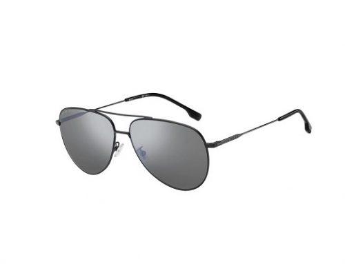 Hugo Boss ZLH32Q, ochelari de soare bărbați stil Aviator polarizați cu lentile gri și rama din metal