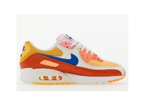 Nike Air Max LTE53SQY, pantofi sport de damă din piele întoarsă portocalii cu talpă interioară Air Sole