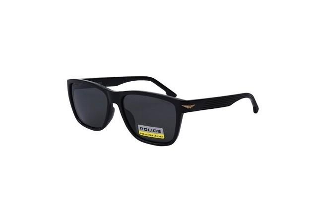 Ochelari de soare Police SPLB38E Z42P bărbați pilarizați cu lentile gri și rama rectangulară