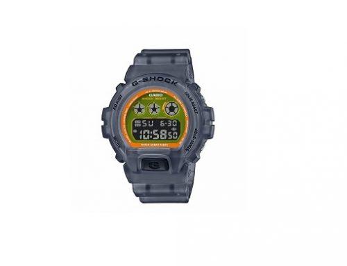 Ceas sport Casio G-Shock DW-6900LS pentru bărbați gri, 20ATM, afișaj digital, mecanism Quartz