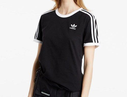 Tricou sport WBS3YL Adidas de damă clasic și lejer, negru, din bumbac moale cu logo brodat