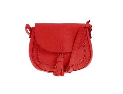 Geantă de umăr MeliM de damă roșie casual crossbody cu ciucure și baretă ajustabilă