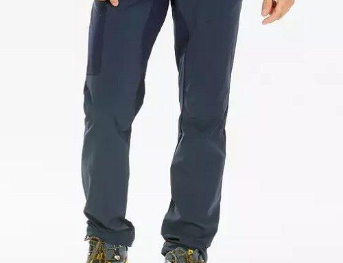 Pantaloni Quechua pentru bărbați elastici de drumeție albaștri cu 6 buzunare și talie elastică