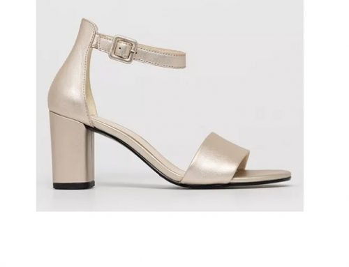 Sandale elegante MLU32SQ Vagabond Penny de damă aurii din piele naturală cu toc gros