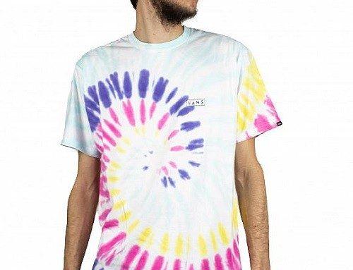 Tricou Vans Drop Spiral pentru bărbați lejer din bumbac cu imprimeu grafic multicolor