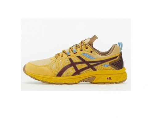 Pantofi sport ASICS Venture pentru bărbați galbeni cu talpă interioară cu gel amortizant