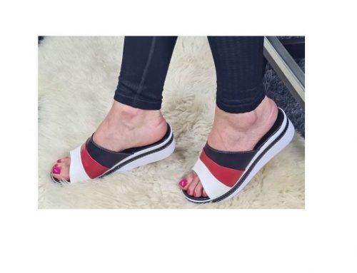 Papuci de damă MDKS3Q Zoia multicolori de stradă cu talpă ortopedică cu platformă