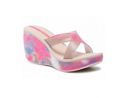 Papuci Ipanema Lipstick de damă de stradă cu platformă și imprimeu colorat