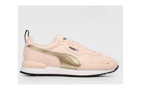Puma HLWFM Metallic, pantofi sport de damă roz cu talpă plată