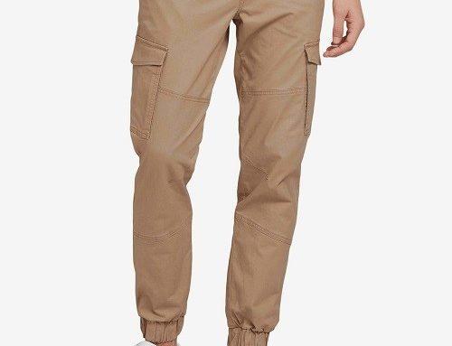 Tom Tailor GZLK2Q, pantaloni casual stil cargo bărbați din bumbac cu terminație elastică